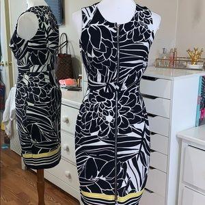 Zipper body on dress